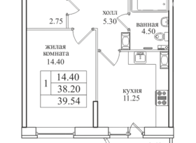 Продажа 1-комнатной квартиры, Санкт-Петербург, проспект Энгельса, 7, фото №1