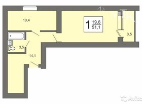 Продажа 1-комнатной квартиры, Пензенская обл., Олимпийская улица, 4, фото №1