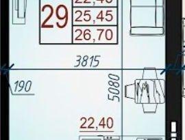 Продажа квартиры в свободной планировке , Адыгея респ., Бжегокайская улица, 29А, фото №5