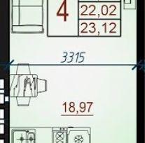 Продажа квартиры в свободной планировке , Адыгея респ., Бжегокайская улица, 29В, фото №5