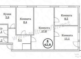 Продажа 4-комнатной квартиры, Калининградская обл., Калининград, Батальная улица, фото №1