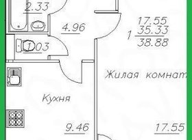 Продажа 1-комнатной квартиры, Вологодская обл., Череповец, улица Монтклер, 2, фото №1