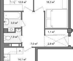 Продажа 2-комнатной квартиры, Вологодская обл., Вологда, улица Чернышевского, 120А, фото №2