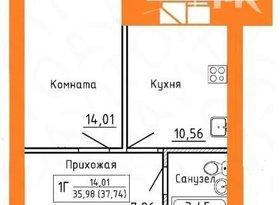 Продажа 1-комнатной квартиры, Вологодская обл., Череповец, улица Монтклер, 11А, фото №7