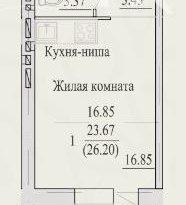 Продажа 1-комнатной квартиры, Вологодская обл., Череповец, Октябрьский проспект, 78, фото №6