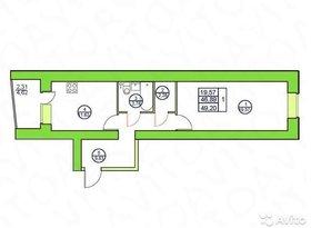 Продажа 1-комнатной квартиры, Вологодская обл., Череповец, улица Краснодонцев, 28А, фото №3