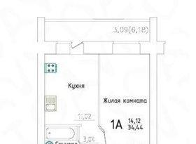 Продажа 1-комнатной квартиры, Вологодская обл., Череповец, Вологодская улица, 25, фото №2