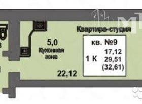 Продажа 1-комнатной квартиры, Саратовская обл., Саратов, Весенняя улица, 1, фото №1
