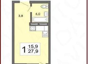 Продажа 1-комнатной квартиры, Пензенская обл., Радужная улица, 10, фото №7