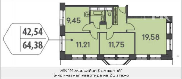 Продажа 2-комнатной квартиры, москва, донецкая ул, 15